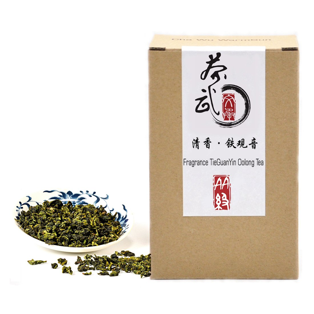 Cha Wu-[AA] Fragrant TieGuanYin Oolong Tea,8.8oz/250g,WuLong Tea Loose Leaf Wu Long,Origin of AnXi,FuJian,Chinese by ChaWuWarmSun