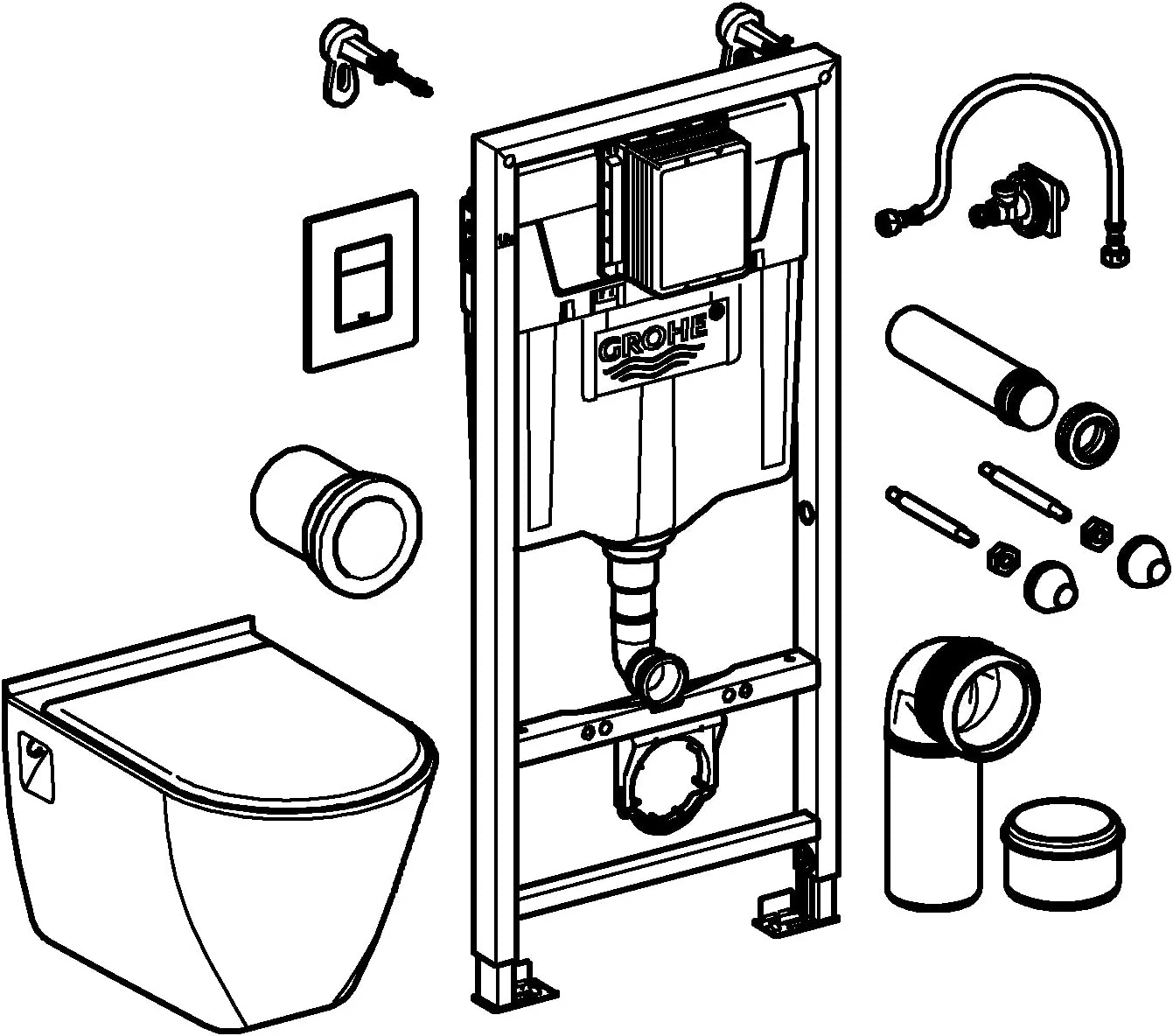 Grohe 39116000/Ceramic Compact Solido Set WC 39116000