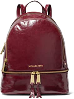 763a9c59eddbb2 MICHAEL Michael Kors Rhea Medium Crinkled Calf Leather Backpack - Oxblood