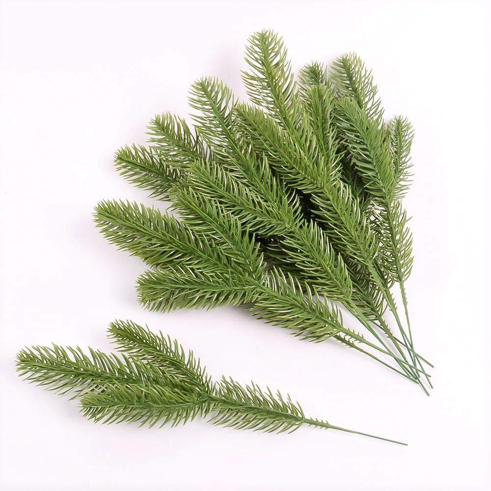 hjfgy False Pine Branch Simulation Plant Three Fork Pine Needle Decoration Accessories Accessories Simulation Pine Branch Christmas Pine Needle