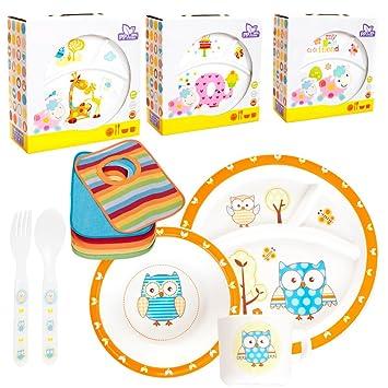 Baby Niños ESS Juego de vajilla (11 piezas: 2 x, plato, taza ...