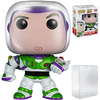 "Disney Pixar: Toy Story - Buzz Lightyear ""20th Anniversary"" Funko Pop! Vinyl Figure (Includes Compatible Pop Box Protector Case): Toys & Games"