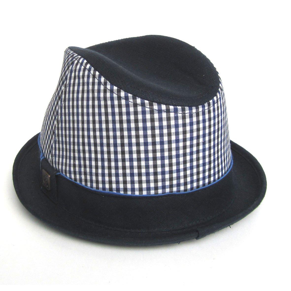 Dasmarca Mens Gingham Cotton Skimpy Brim Summer Hat