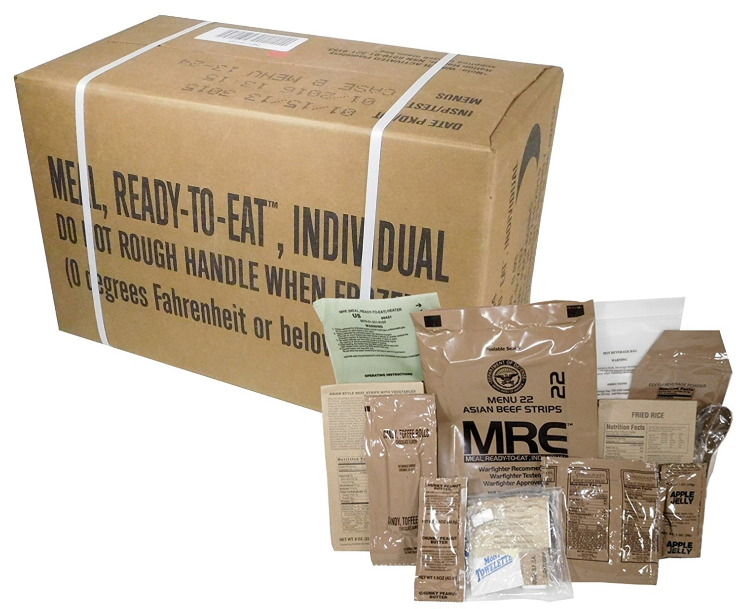 MRE 2020 Inspection Date Case, 24 Meals with 2020 Inspection Date, 2017 Pack Date A and B Case. Military Surplus Meal Ready to Eat. by Ozark Outdoorz, LLC (Image #4)