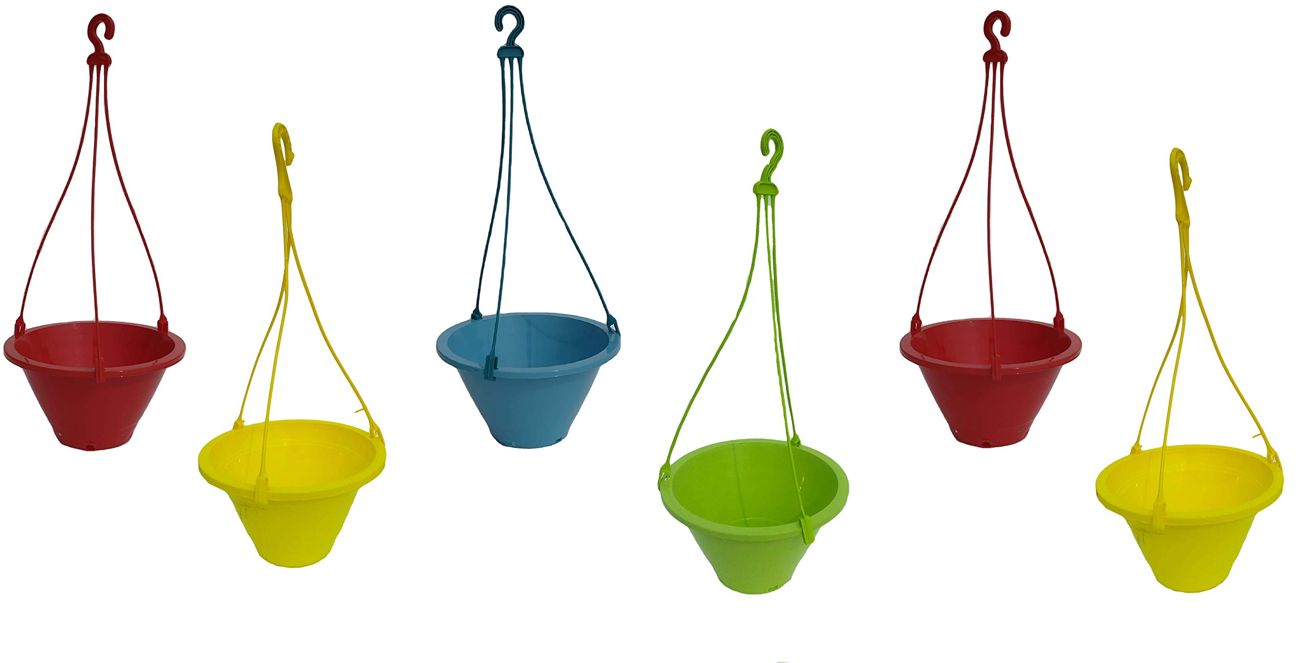 Truphe Garden Hanging Pot (Pack Of 6) - Multicolor product image