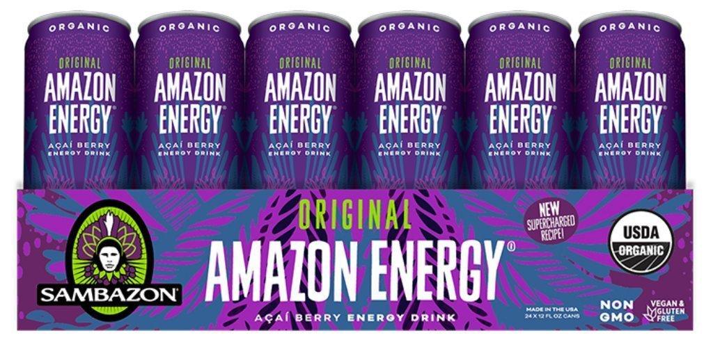 Amazon Com Sambazon Amazon Energy Drink Low Calorie