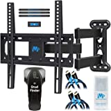 Mounting Dream MD2377-KT TV Wall Mount Bracket Kit with Stud Finder, 2 HDMI Cables, Magnetic Bubble Level and Anti-static Screen Cleaning Gel for TVs up to 60lbs, 26-55 Inches and VESA 400x400mm