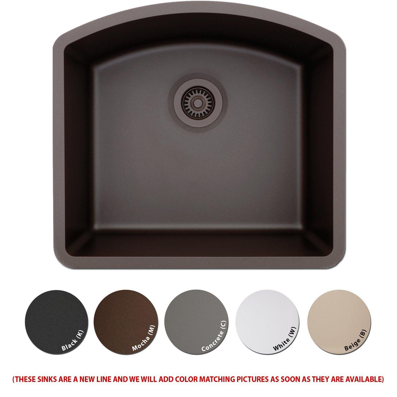 Lexicon Platinum Quartz posite Kitchen Sink D Shaped Single