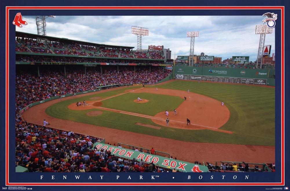 Unbekannt Boston Red Sox Fenway Park Stadium Baseball Poster RP14043 Trends International