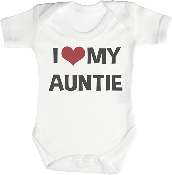 TRS - I Love My Auntie Regalo para bebé, Body para bebé niño, Body para bebé niña 100% Algodón: Amazon.es: Ropa y accesorios