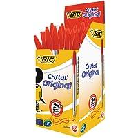 BIC Cristal Original Ballpoint Pens Medium Point (1.0 mm) – Red, Box of 50