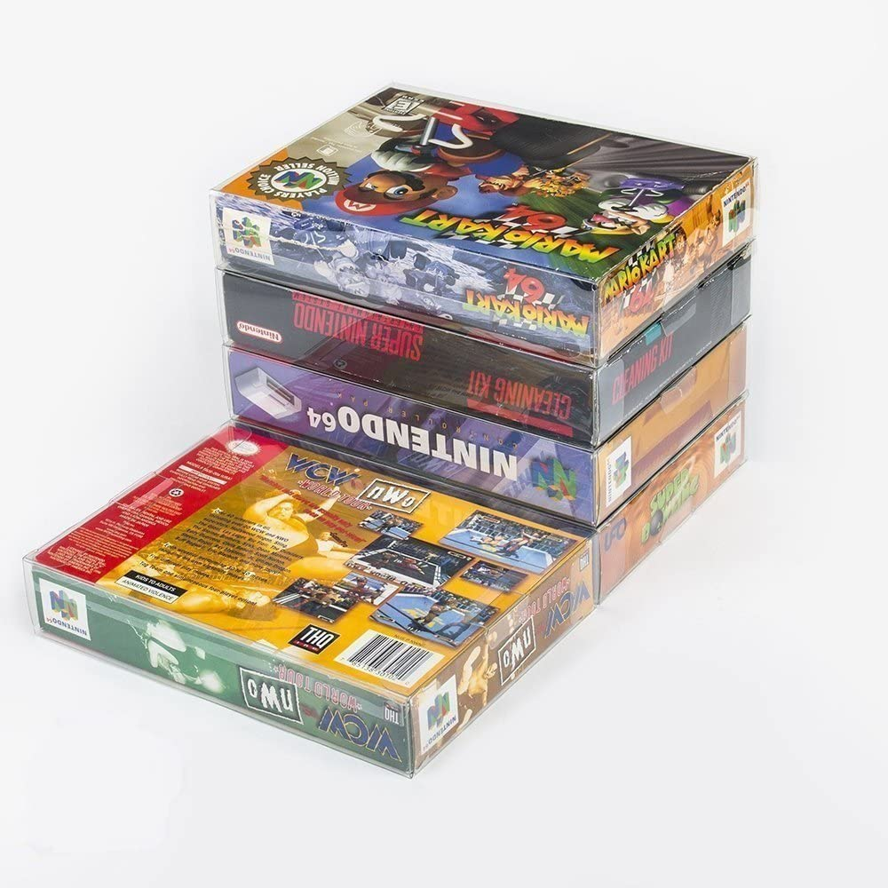 Link-e : 10 X Estuche Protector De Plastico Para Cajas De Juego Super Nintendo (SNES) O Nintendo 64 (N64): Amazon.es: Videojuegos
