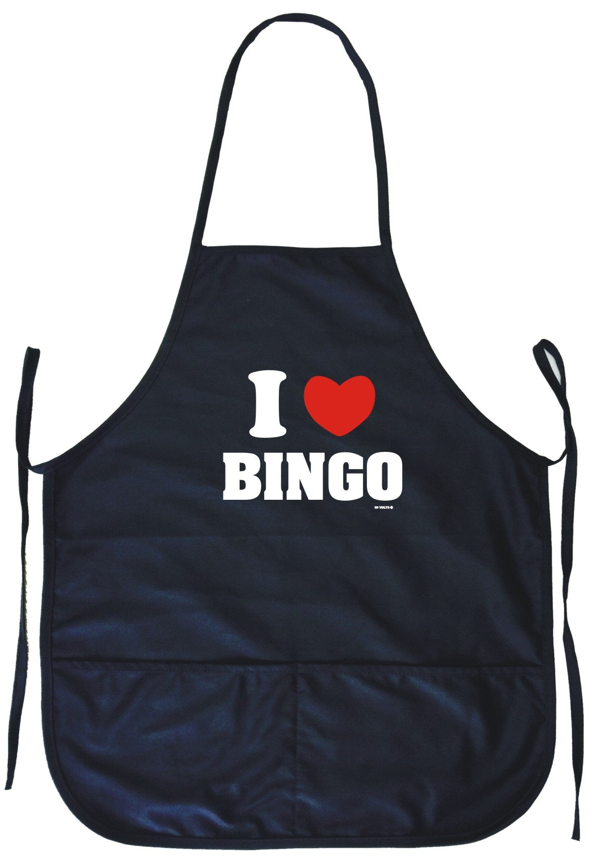 I Heart Love Bingo Cooking Apron With Pockets