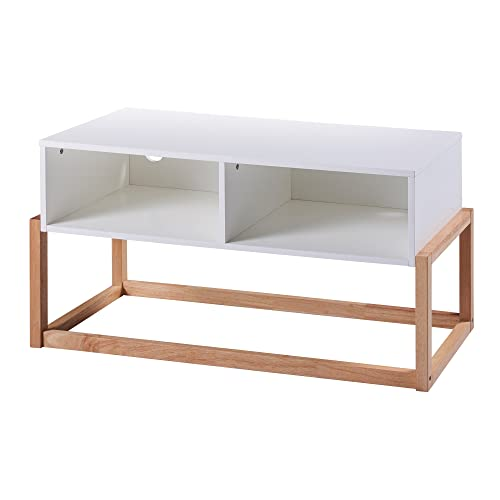 Versanora Creativo Stylish TV Stand with 2 storage space, 40.00×16.00×20.00, White Natural