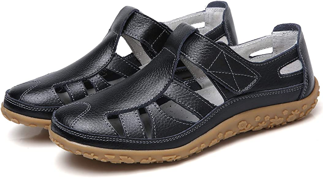 Women's Closed Toe Sandals Soft Leather