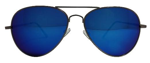 black tinted aviator sunglasses  Blue Mirror Lens Aviator Sunglasses With Black Frame And Dark Tint ...