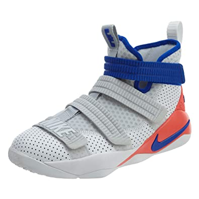 premium selection 0d834 6f18e NIKE Lebron Soldier Xi SFG (Kids) White/Racer Blue-Infrared Size 6 US Youth