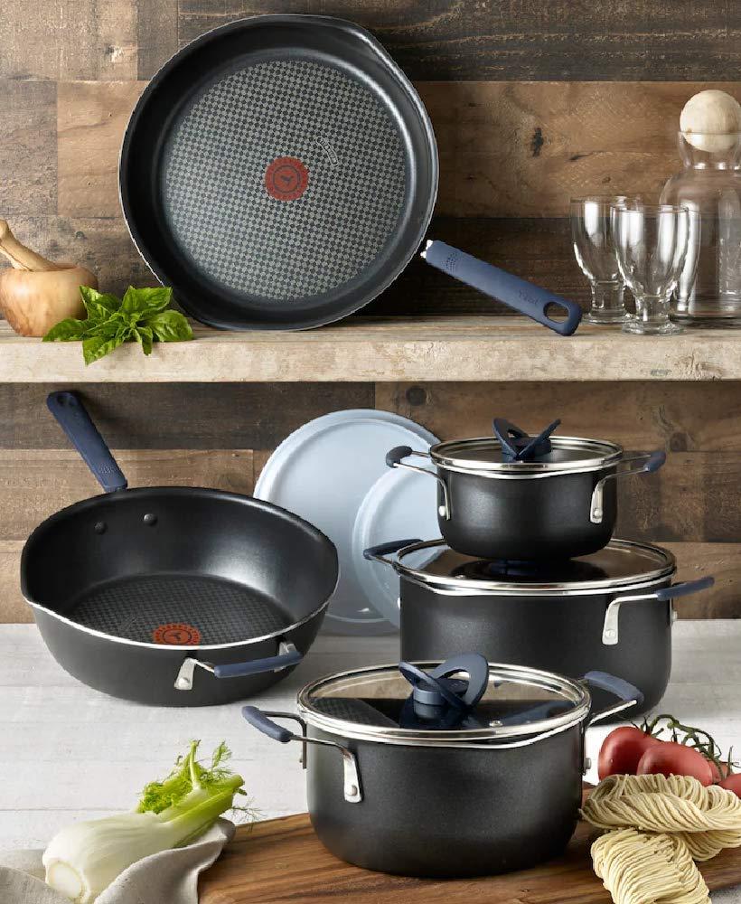 Amazon.com: T-Fal Stackables 10-pc. Cookware Set B198SA64 ...