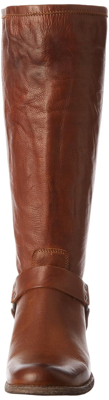 FRYE Women's Phillip Harness Tall Wide-Calf Boot B00B1YV6HK 6.5 B(M) US|Cognac Soft Vintage Leather Wide Calf-76850