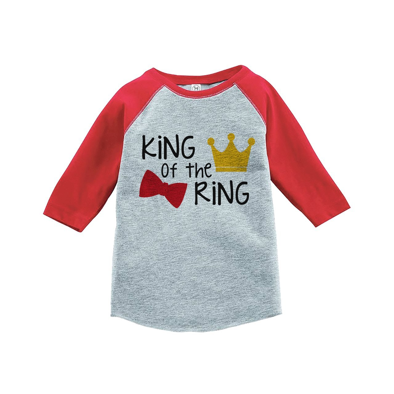 Custom Party Shop Youth Boy's King of the Ring Wedding Red Raglan XL