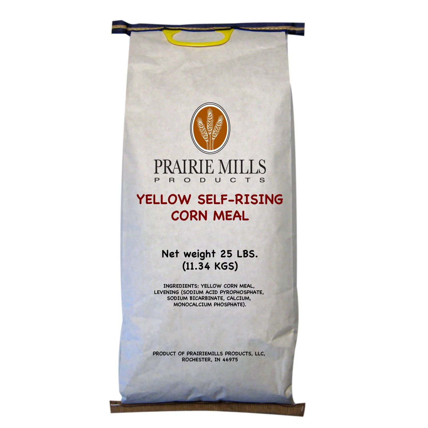 Prairie Mills Self-rising Yellow Corn Meal - 25 Lb. Bag by Prairie Mills