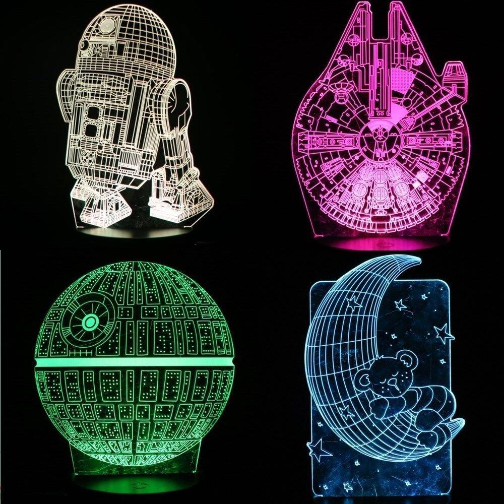 Durable Illusion Wars Night Service Led Lamp 3d Lightstar Star CedoEQBxrW