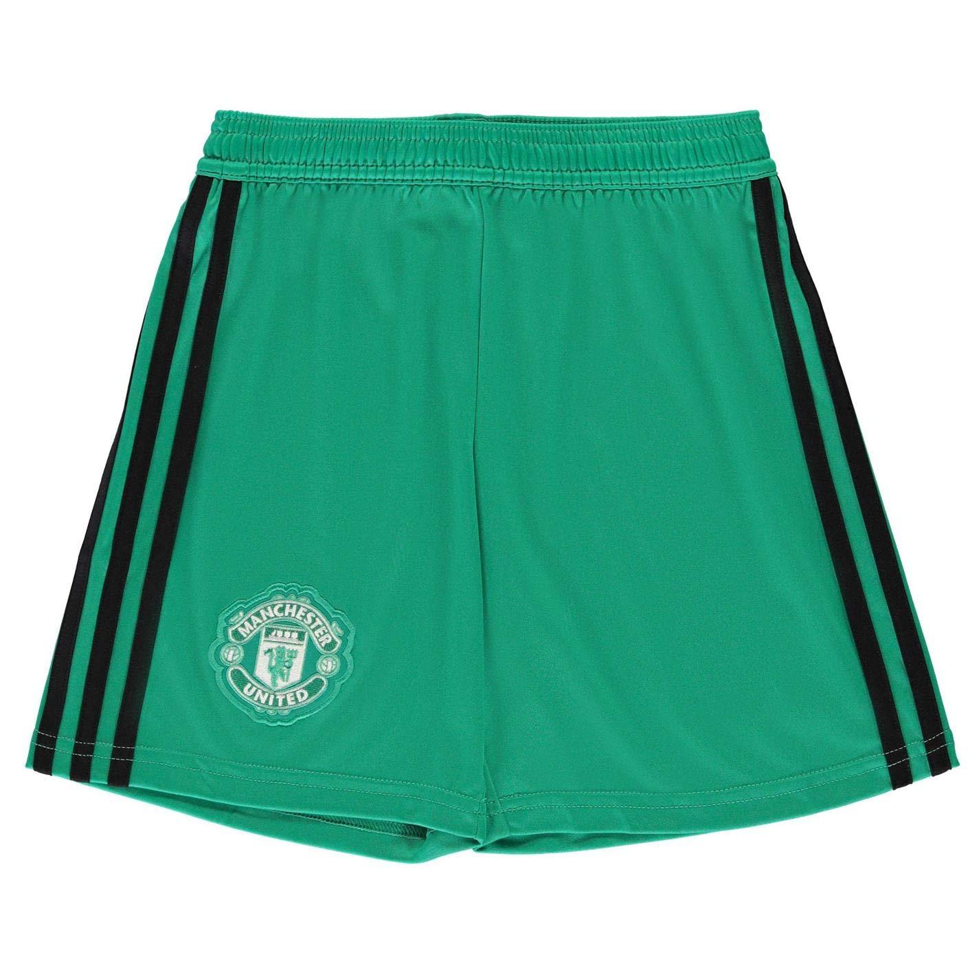 6bedafcde3b Amazon.com   adidas 2018-2019 Man Utd Home Goalkeeper Shorts (Kids)    Sports   Outdoors