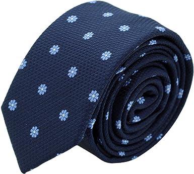 Bleu Marine à fleurs Attora Cravate Slim Homme
