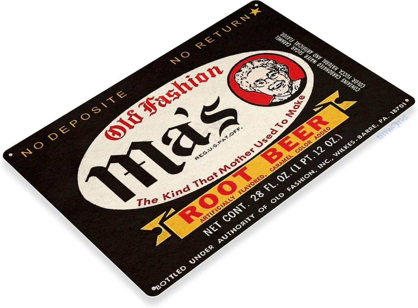 Vintage Reproduction Old Style Beer Decal