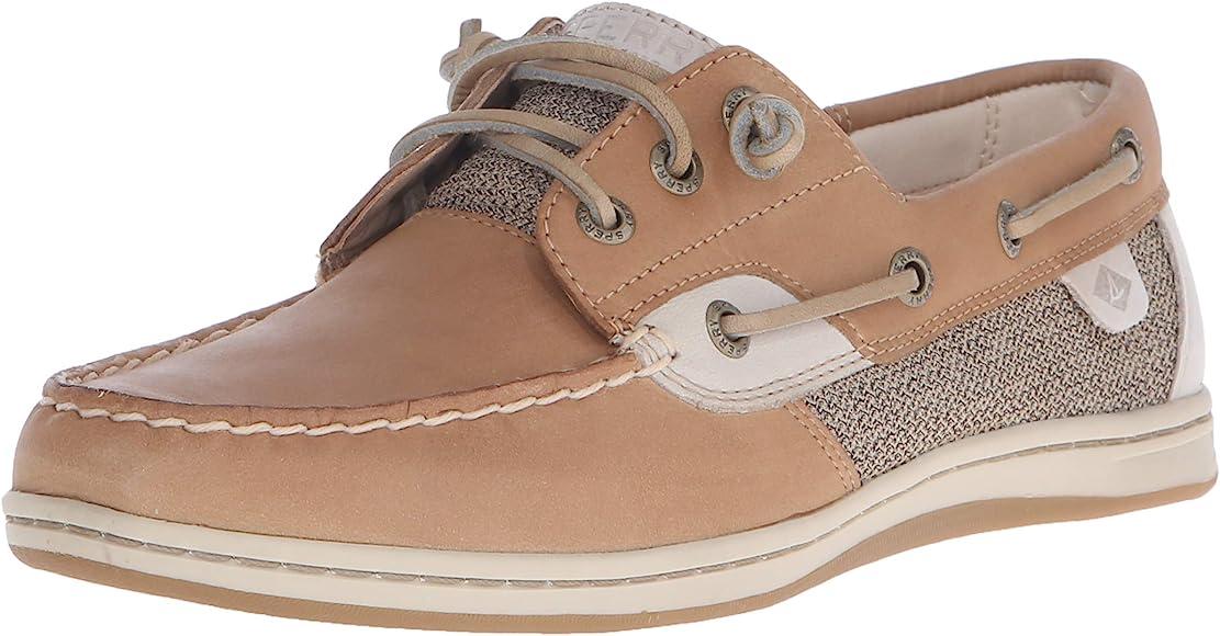 linen boat shoes