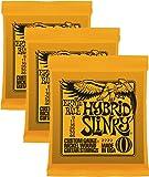 Ernie Ball 2222 Nickel Regular Slinky Orange Electric Guitar Strings 3 Pack