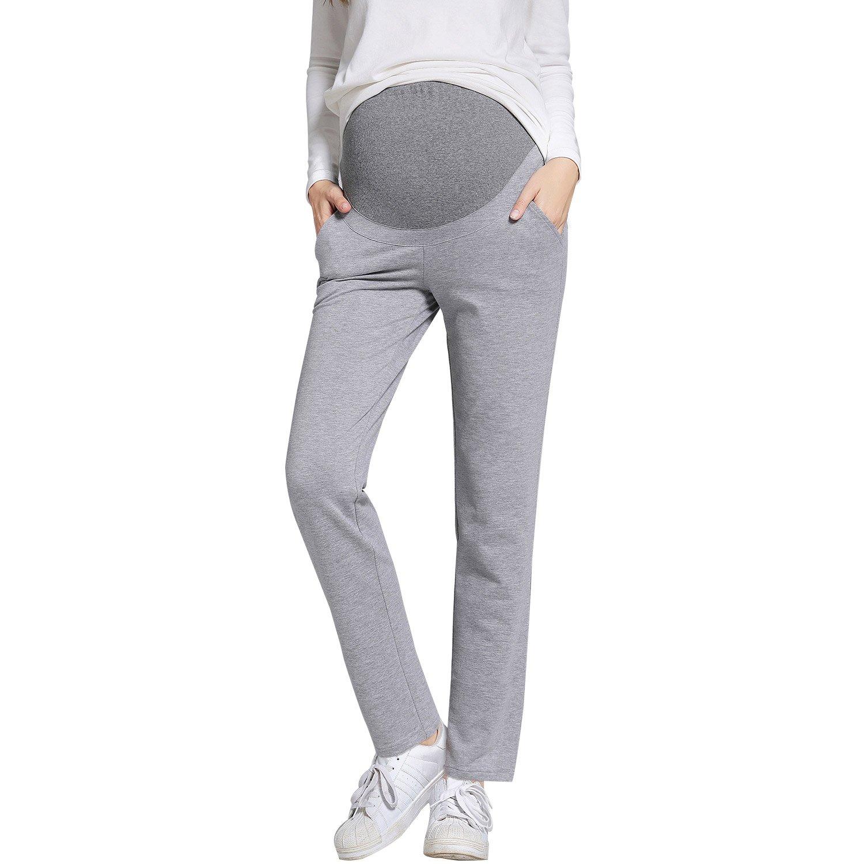 JOYNCLEON Womens Mutterschaft Arbeitshose Straight Leg Schwangerschaft L/ässige Hose f/ür Schwangere
