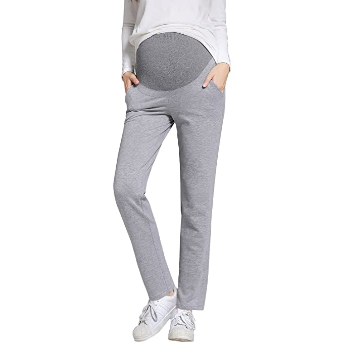 7cdb08d1c ... Pantalones de Trabajo de Maternidad para Mujeres Embarazadas Pierna  Recta Embarazo Pantalones para Mujeres Embarazadas  Amazon.es  Ropa y  accesorios