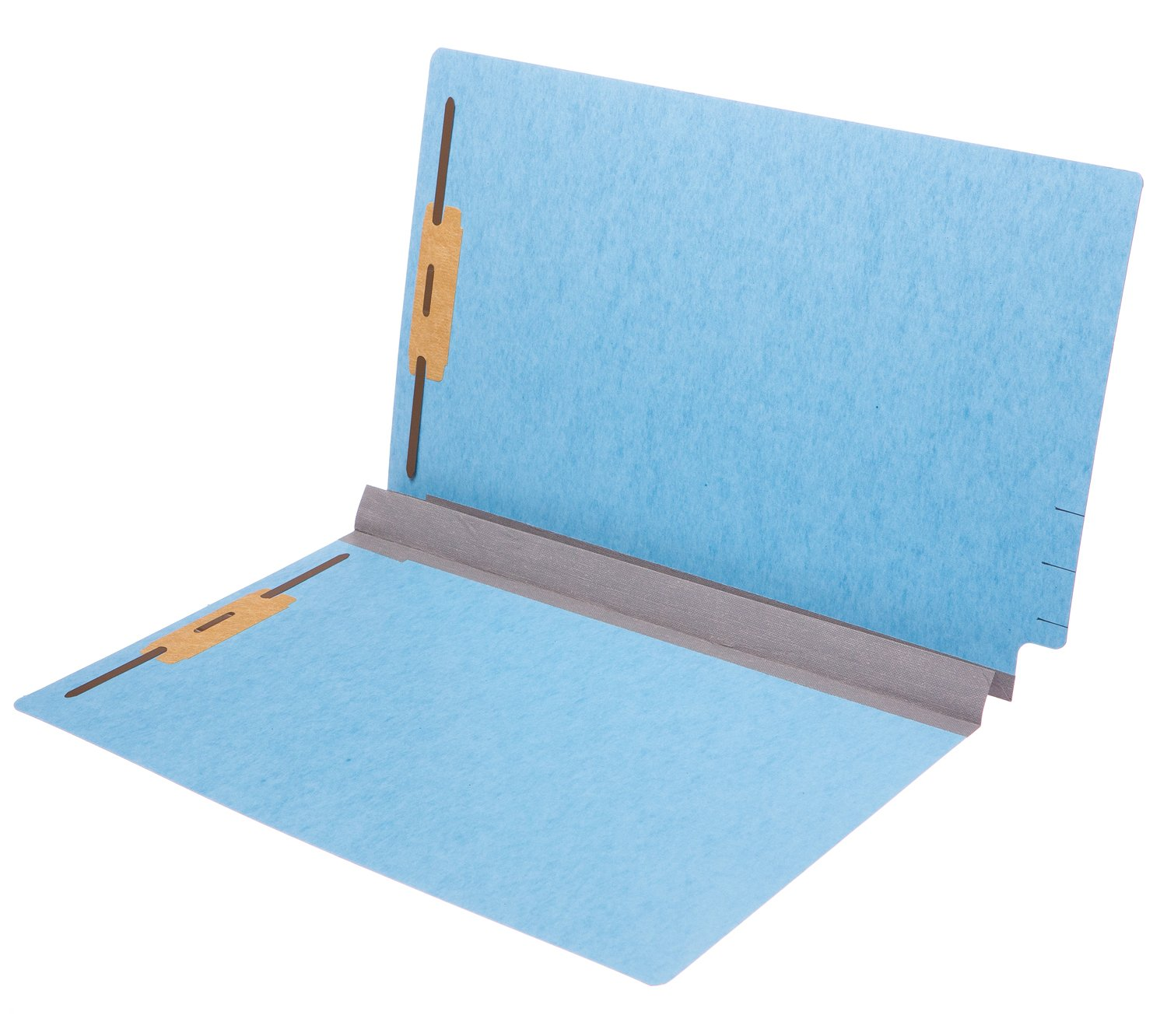 TAB Pressboard Expansion Folder 2'' Expansion with 2 Fasteners Legal Size Blue 25/Box by TAB