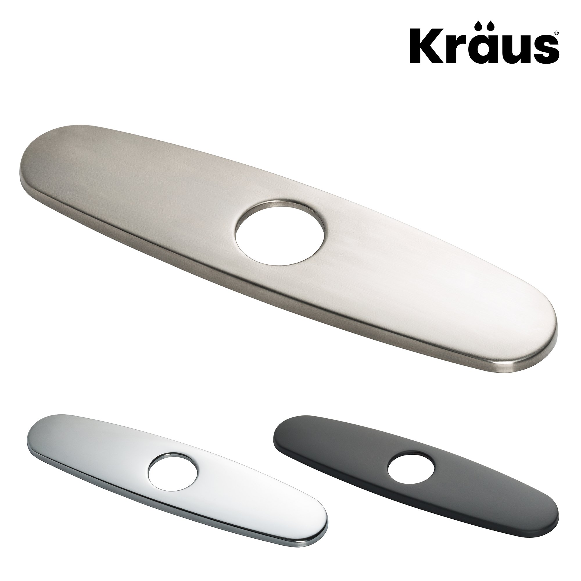 """Details about Kraus Kitchen Faucet 10"""" Deck Plate in Stainless Steel"""