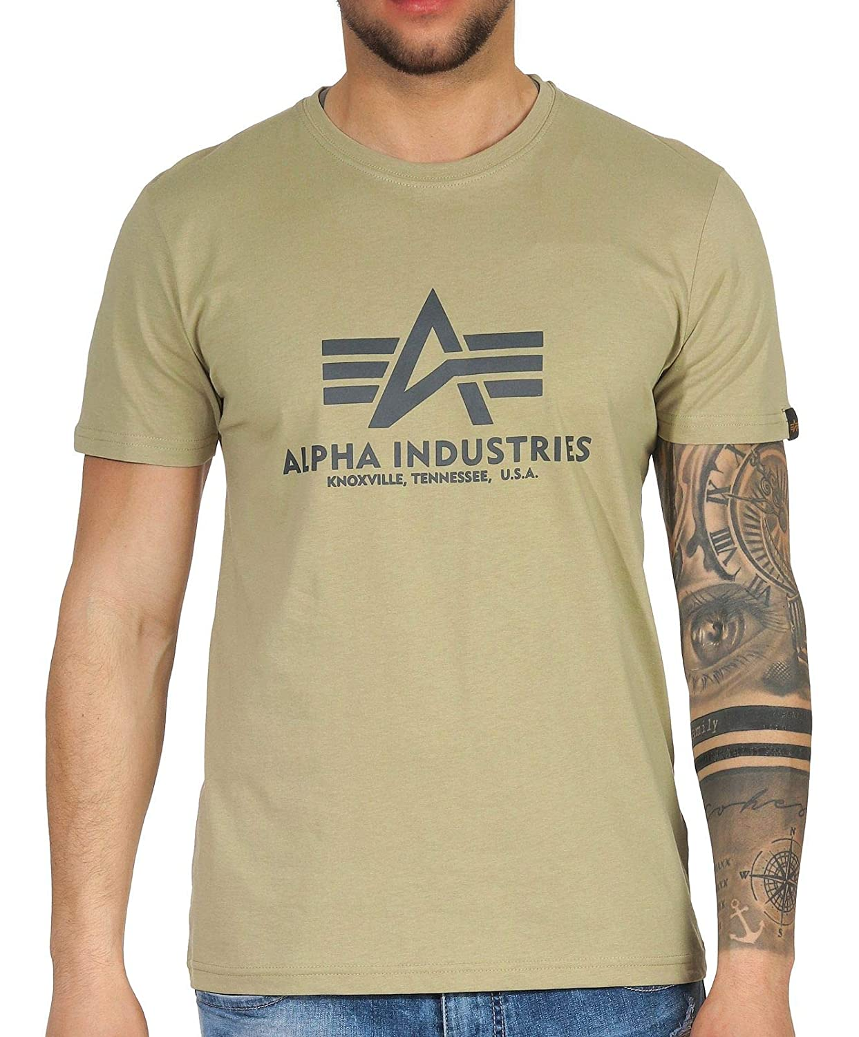 Alpha Industries Basic Camiseta: Amazon.es: Ropa y accesorios