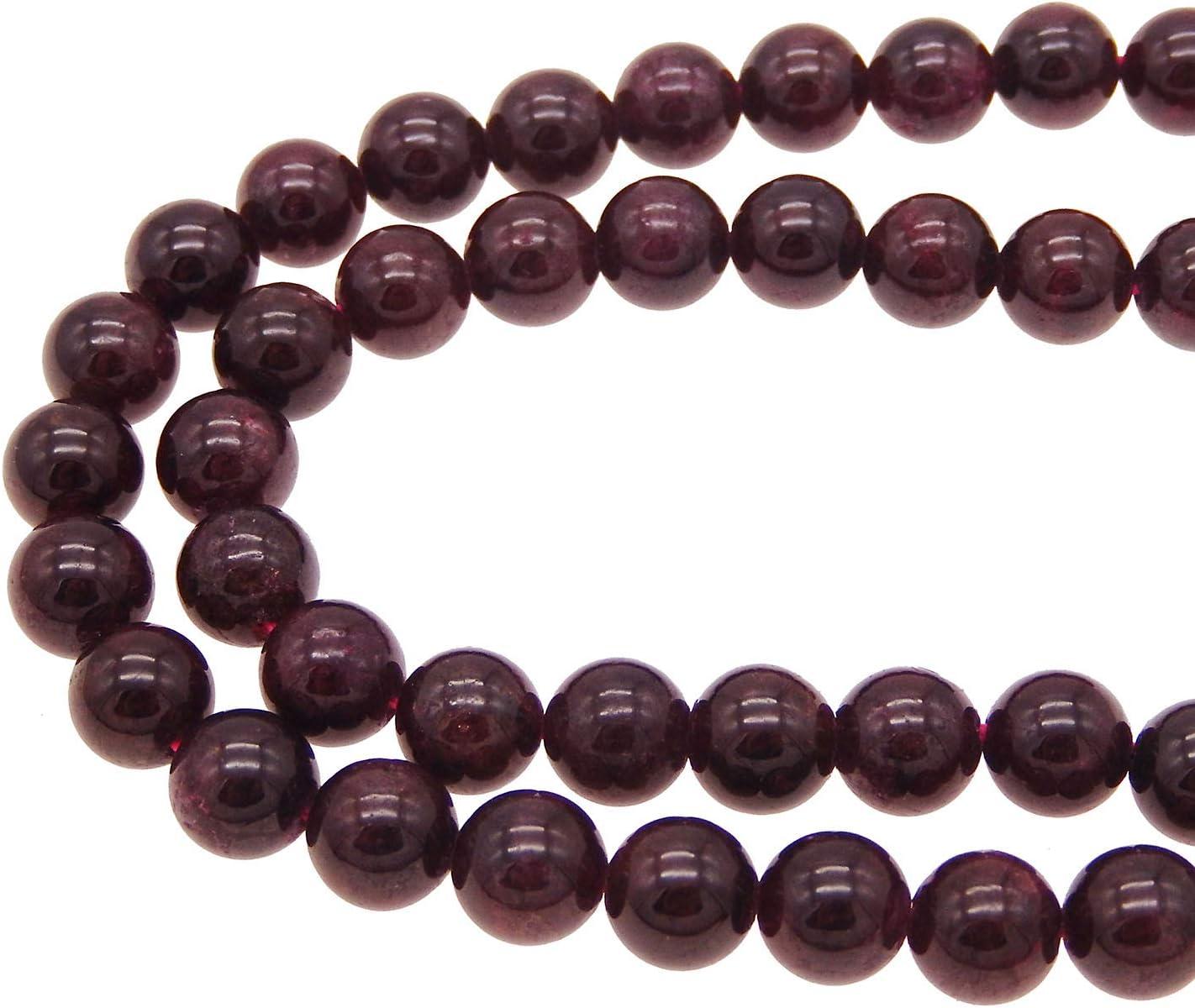 Lot de 10 perles grenat naturel 8mm