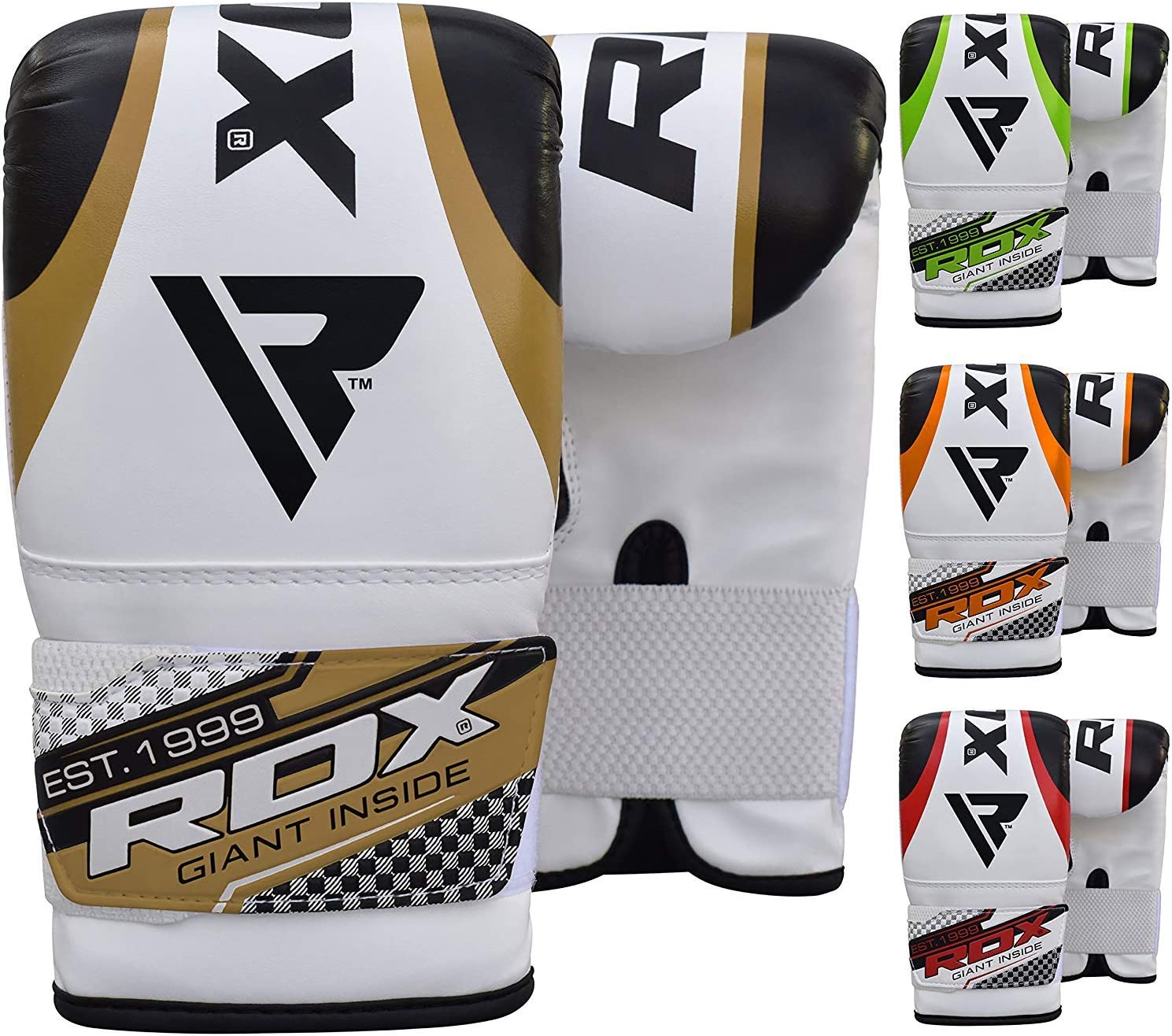 Ideal for Thai pad MMA Martial Arts Focus Pads and Double End Speed Ball Workout Maya Hide Leather Punch Mitts for Boxing Kickboxing RDX Bag Gloves for Heavy Punching Training Muay Thai