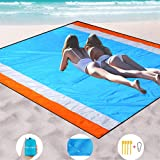 "Mumu Sugar Sand Free Beach Blanket Extra Large Size 82"" X79"" Sand Proof Beach Blanket Outdoor Picnic Mat for Travel…"