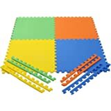 eHomeKart Pablo Honey EVA Kid's Interlocking Play Mat - Set of 8-PcsTiles - 10 mm, 60 x 60 cm (Multicolour)