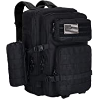 GZ XINXING Large 42L Water-Resistant 3 Day Assault Pack Military Tactical Army Molle Rucksack Backpack Bug Out Bag Hiking Daypack for Hunting Camping Hiking Traveling with Water Bottle Pouch Carrier