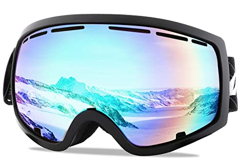 9a62049b159 Wantdo Adult Ski Goggle Snowboard Glasses Snowmobile Skate Motorcycle  Riding Dual Layers Lens Anti-Fog
