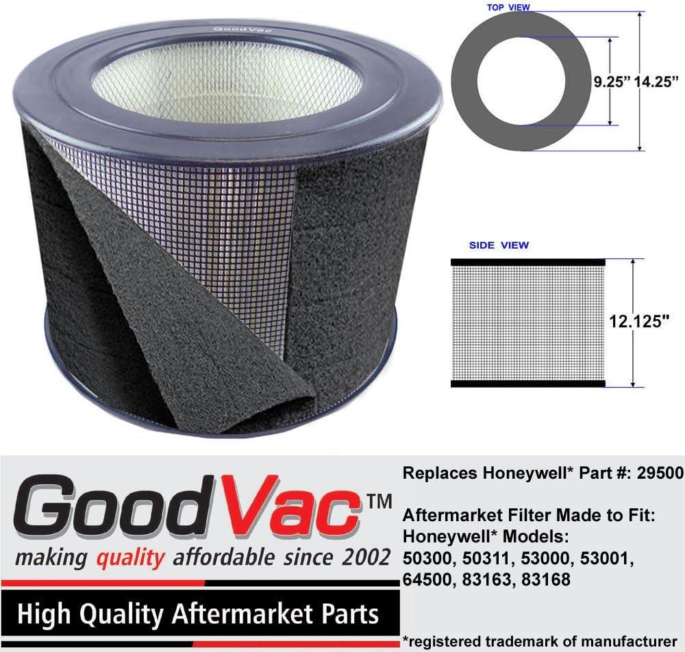 GOODVAC Honeywell 29500 purificador de Aire HEPA Filtro w/Olor absorción prefiltro de Repuesto Fabricado: Amazon.es: Hogar