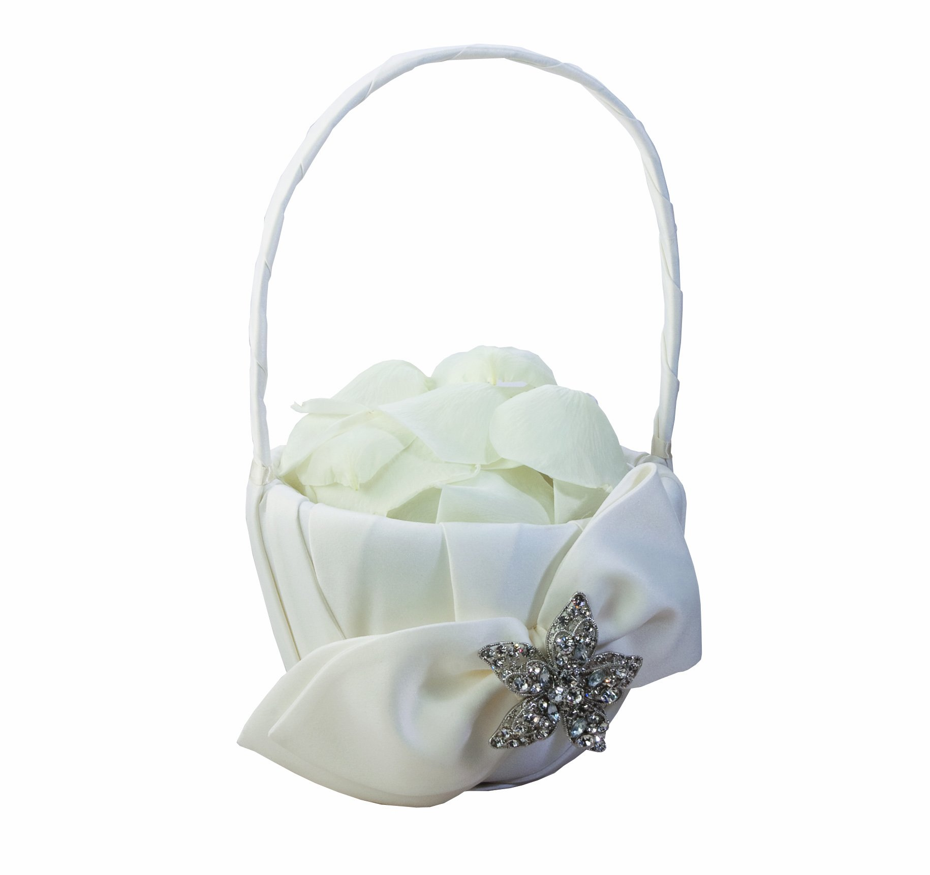 Ivy Lane Design Eva Collection Flower Girl Basket, White
