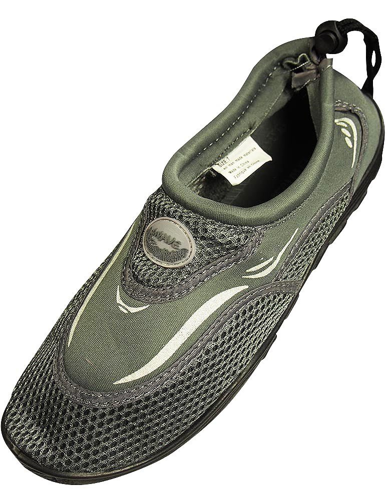 The Wave - Mens Aqua Shoe, Grey 37134-10D(M) US