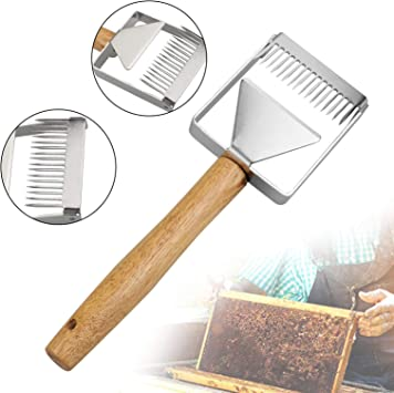 New Steel Bee Keeping Honey Comb Beekeeping Tine Uncapping Fork Hive Tools   PHI