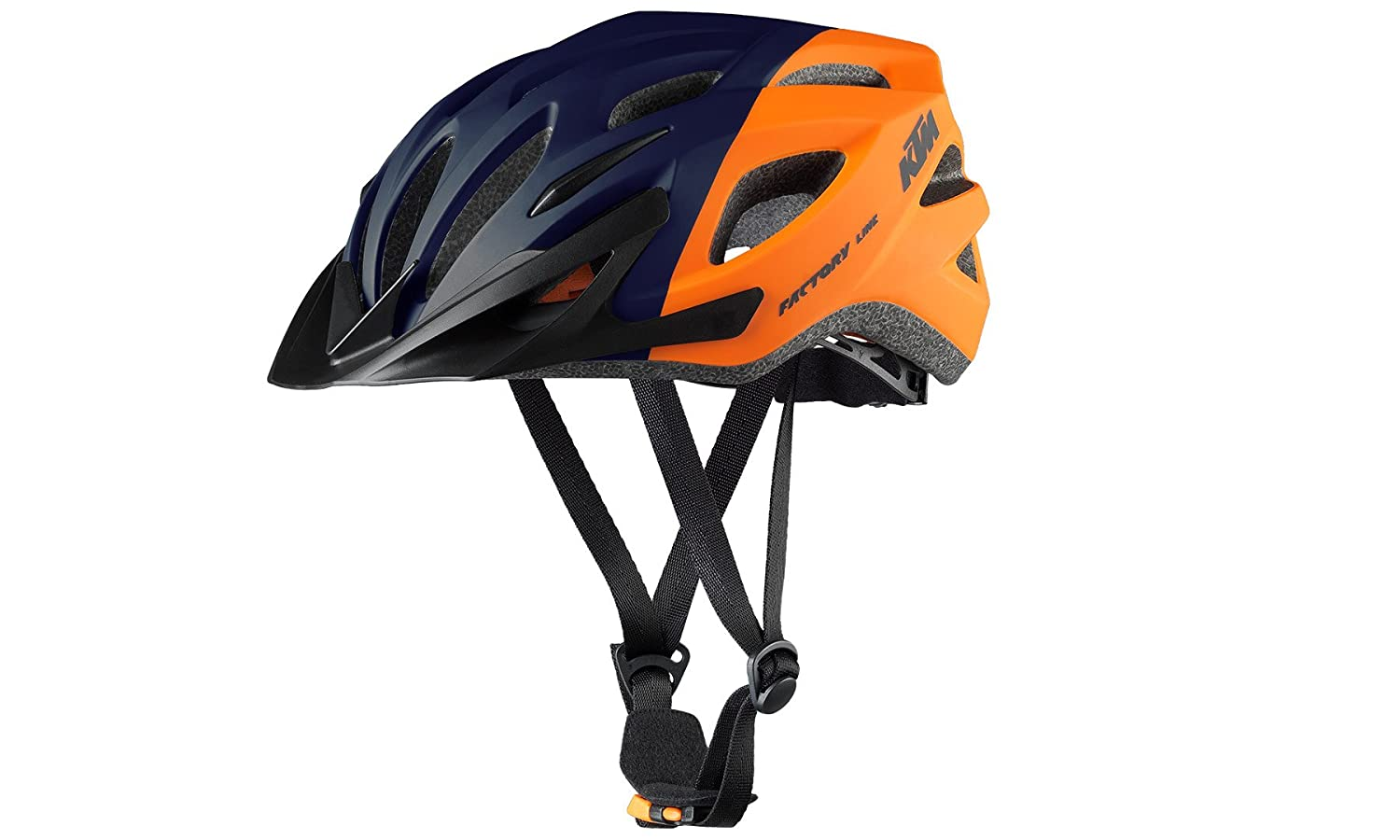 KTM BIKE Fahrrad MTB Helm - FACTORY LINE 2018 - Gr. 58-62 - Orange Dunkelblau - Matt (8-006)