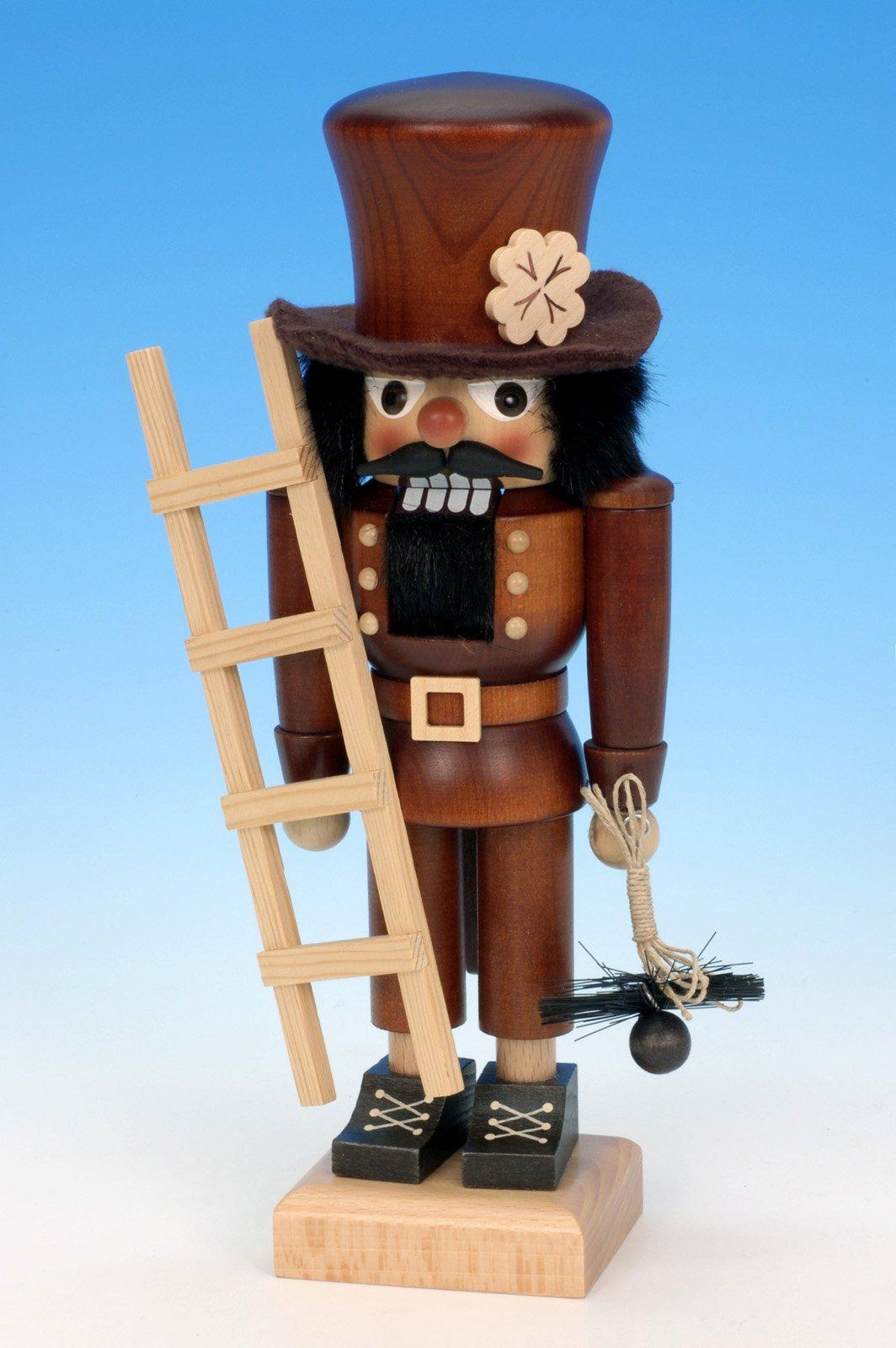 German Christmas Nutcracker Chimney sweep natural colour - 26,5cm / 10 inches - Christian Ulbricht