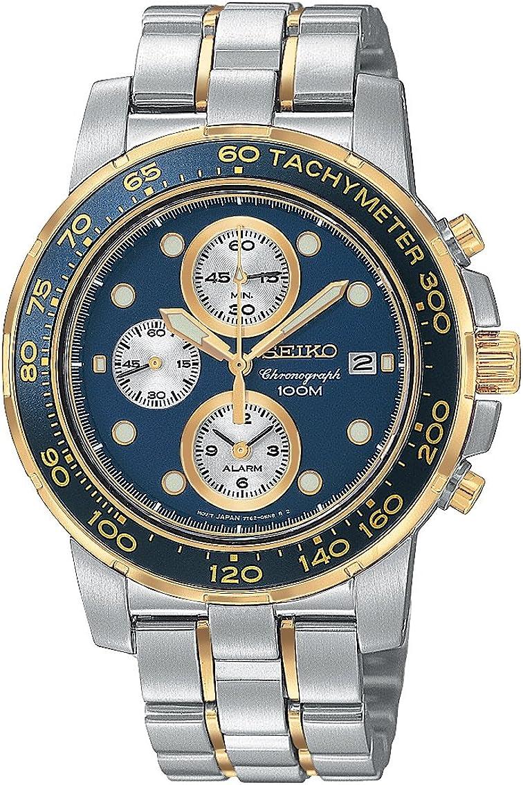 Seiko Men s SNAA64 Alarm Chronograph Two-Tone Watch