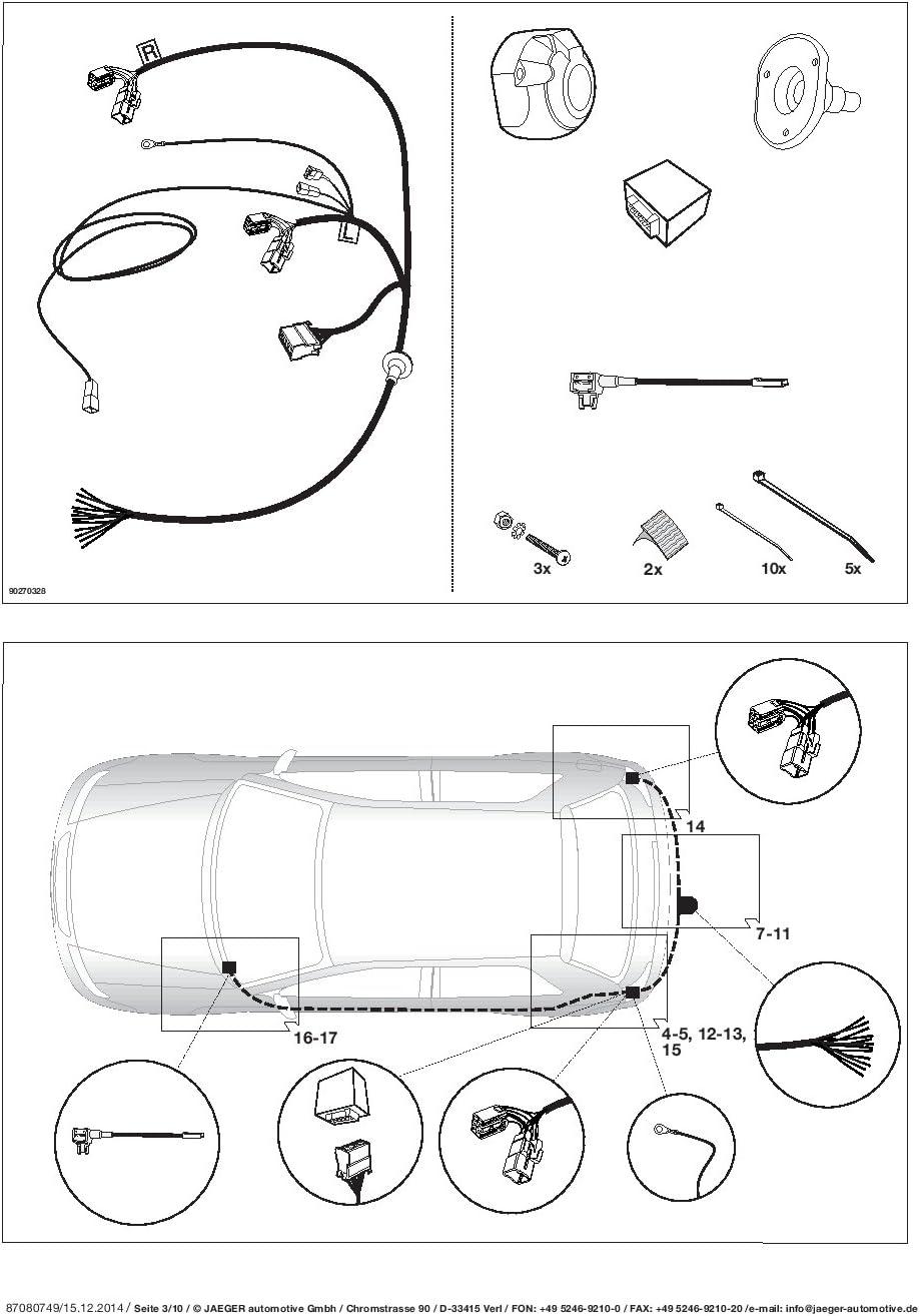 UmbraRimorchi Feste Starr Anh/ängerkupplung f/ür Hyundai i20 Flie/ßheck 3-5t/üren 2015 UT450COR25ZFMDE1